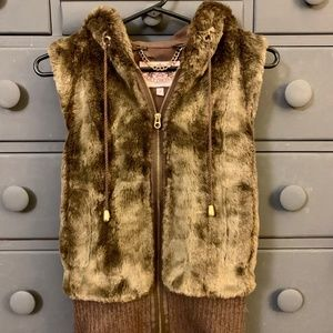 Juicy Couture Faux Fur Vest Size Small